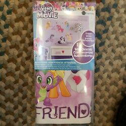 New/Sealed-MY LITTLE PONY THE MOVIE!!  18 PC PEEL & STICK WALL DECALS-EZ REMOVE