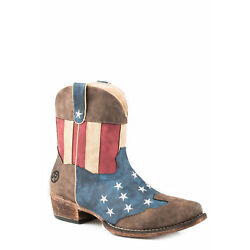 Roper Womens American Flag Faux Leather Flotus Cowboy Boots