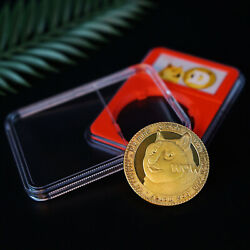 2021 New Gold Plated Dogecoin Commemorative Coins Collection