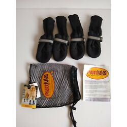 Muttluks Size Small Dog Boots Booties Fleece Lined Reflective Black Warm Cozy