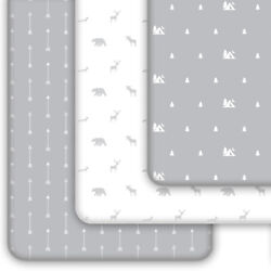 Pack N Play Sheets 3-Pack | Mini Crib Sheet for Playard Mattress Woodland Forest