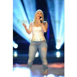 Beatrice Egli TV Hit Music Photo 7 7/8x11 13/16in Without Autograph (Be-4