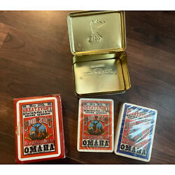Vintage Union Pacific Railroad poker cards with tin box -factory Sealed New