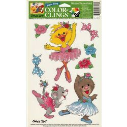 Static Window Clings - Suzy's Zoo - Decorations - Ballerina Bear Mouse Duck