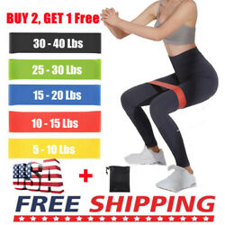 Resistance Bands Loop Set Strength Fitness Leg Exercise Yoga Workout Pull Up GYM