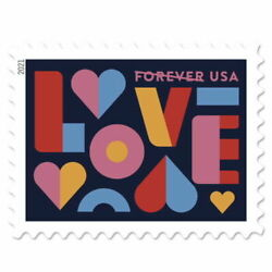5 x 1 Sheet of 20 Forever Postage 100 Love Wedding 2021 Sealed