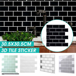3D Self-Adhesive Mosaic Tile Stick on Wall Waterproof Decal Kitchen Sticker Home