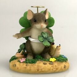 Charming Tails St Patricks Holiday You're My Angel Clover Figurine Fitz Floyd