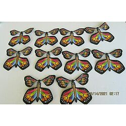 20pk Magic Fairy Flying Butterfly Rubber Band Powered Toy FREE SHIPPING  DR-RG