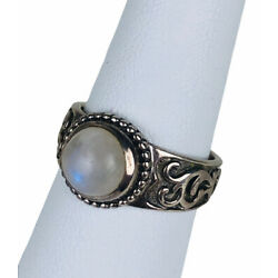 Silpada Celestial Moonstone Ring R2933 Size 7 Sterling Silver