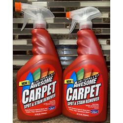 2 - 32 Oz. LA's Totally Awesome Carpet Spot & Stain Remover Cleaner  FREE SHIP