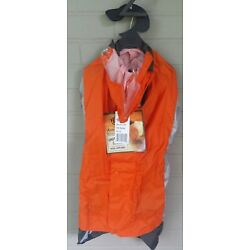 American Kennel Club Safety Rain Coat Slicker Removable Snap Hoodie Size XL