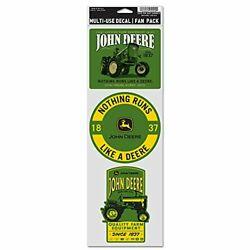 WinCraft John Deere 3 Pack Multi-USE Decals 3.75X12 Tractor