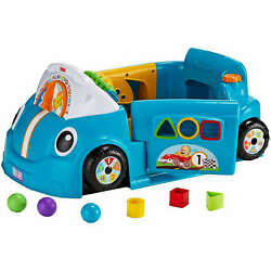 Fisher-Price Laugh and Learn Smart Stages Crawl Around Car, Blue