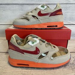 Nike Air Max 1 x CLOT 2021 Kiss Of Death Size 10c Toddler Sneakers New With Box