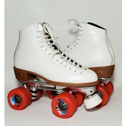 Vintage Riedell Leather Roller Skates Sz 7? Sure Grip Competitor 4 Rollo 78A USA