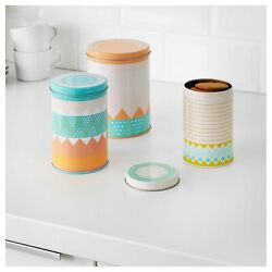 IKEA Somar 2018 tins - set of 3 round tins with lids (NEW & UNOPENED)
