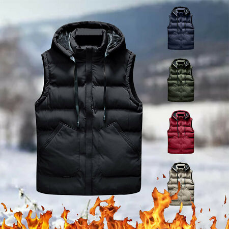 img-Mens Quilted Padded Parka Outdoor Sleeveless Coat Bodywarmer Down Jacket Vest