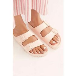 Capelli New York Women's Sandals Size 11 Pink Double Buckle Straps Summer NEW