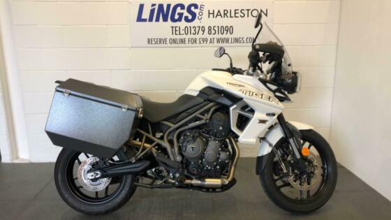 2018 Triumph TIGER 800 XRX with Panniers and more Petrol white Manual