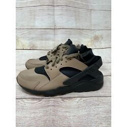 Nike Air Huarache LE Toadstool Brown Black Shoes DH8143-200 Size 11 No Lid