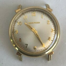 Bulova Accutron 10KT Gold Filled Antique Watch Mens Good Condition