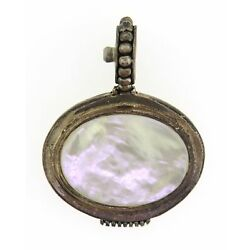 Sterling Silver Mother of Pearl Stocko Pendant