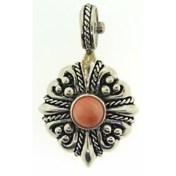 Sterling Silver Coral Stocko Pendant