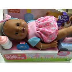 Fisher Price Little Mommy Wipey Dipey Toy Doll African American Black Sounds New
