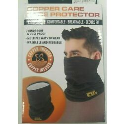 Copper Care Face Protector - Mask - Lightweight Washable Black & Gray - NIB