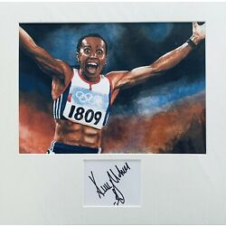 Kelly Holmes HAND SIGNED White Card + 14x11 Art Photograph Mount *In Person* COA