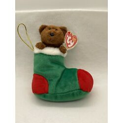 TY Beanie Baby Stockings the Bear #40140 MINT Condition