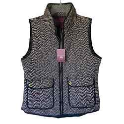 The Savile Row Co. London Print Quilted Vest Women Size Medium M New With Tags