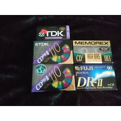 Lot Of 4 High Bias TDK CDing-II 110 + 2 others Blank Cassette Tapes Type II
