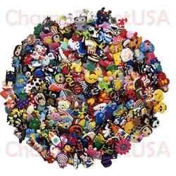 Lot of 50 100 200 Different Random PVC Shoes Charms For Crocs & Wristbands