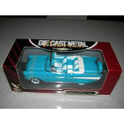 Road Signature 1:18 Deluxe Edition 1957 Chevrolet Bel Air Convertible - Teal