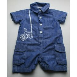 Infant Baby Boys 6-9 Months The Children's Place Blue Camera Outfit