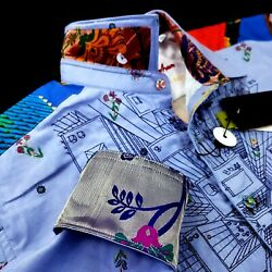 Robert Graham LIMITED EDITION Happiness $399 Embroidered Floral Paisley Shirt