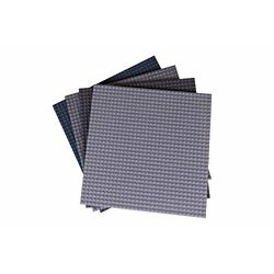 Strictly Briks Classic Briks 10x10 Inch Stackable Baseplates 4 Pack - 100% Co...