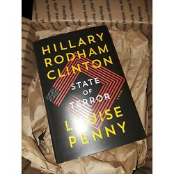 Signed Hillary Clinton State of Terror Louise Penny Autographed Book Plate