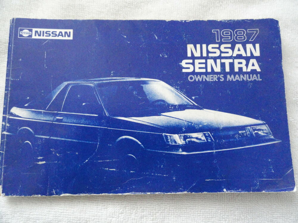 1987 nissan sentra owners manual ebay 2003 Nissan Maxima Owners Manuals Nissan Owner's Manual Online