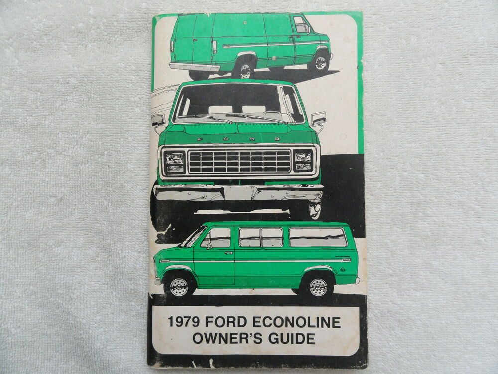 ford econoline owners manual ebay