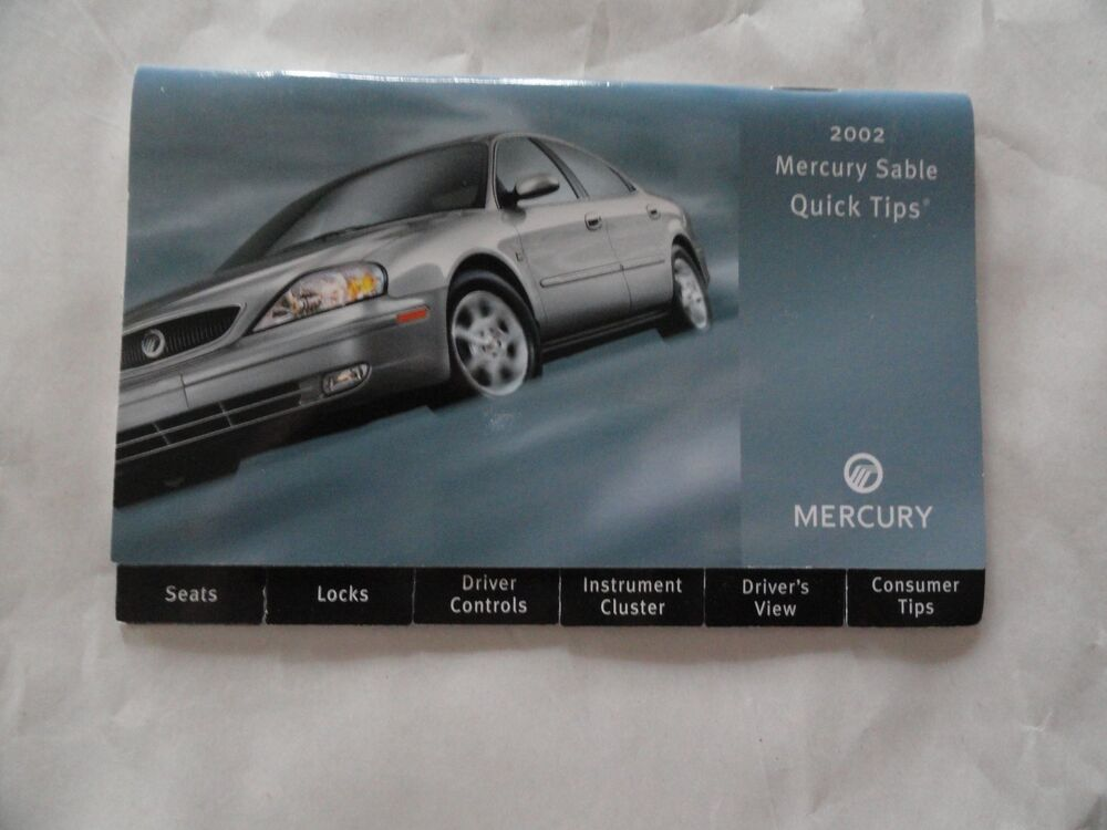 2002 mercury sable quick reference guide owners manual. Black Bedroom Furniture Sets. Home Design Ideas