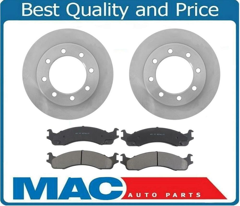 For 1995-1997 Ford F250 F350 Frront Brake Rotors & Ceramic ...