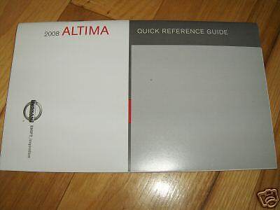 2008 nissan altima quick reference guide owners manual supplement ebay rh ebay com 2012 Nissan Altima 2008 Nissan Altima Interior
