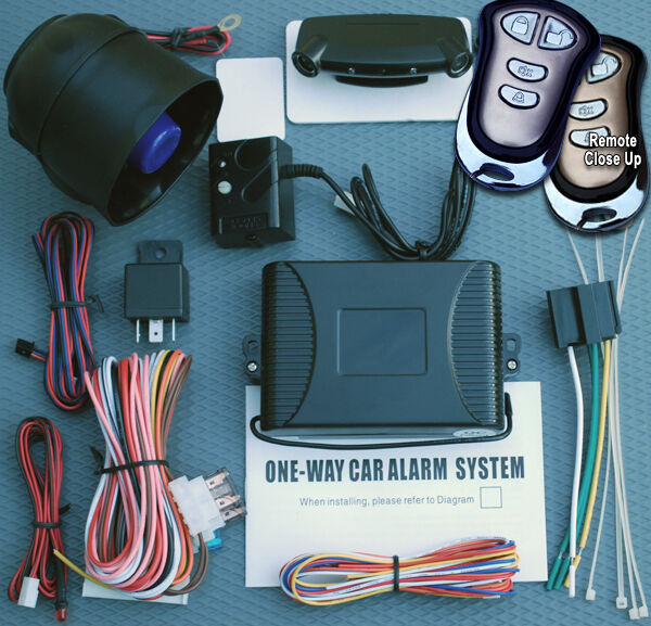 car alarm w ultrasonic and shock sensors 6 tone siren