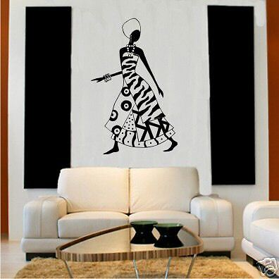 Wall Vinyl Art Decal Sticker African Woman Ebay