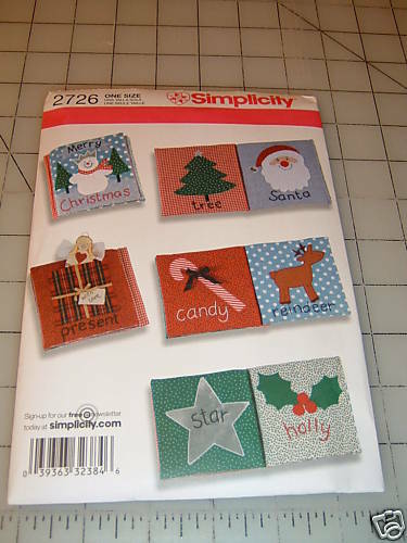 Fabric Book Cover Pattern Free : Simplicity pattern baby fabric christmas book