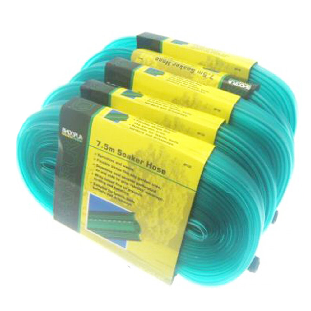 new garden soaker hose water pipe kit 123 ft 5 pc ebay