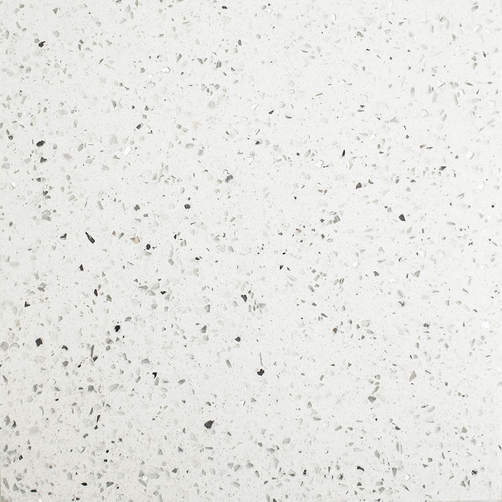 White Sparkle Kitchen Floor Tiles: Sample White Quartz Mirror Fleck Stardust Starlight